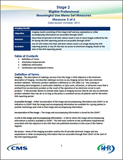 Stage 2 Meaningful Use Menu Measure 3 Imaging Results