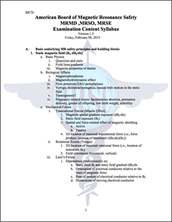 AMBRS Examination Content Syllabus