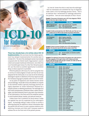 ICD-10 for Radiology Editorial